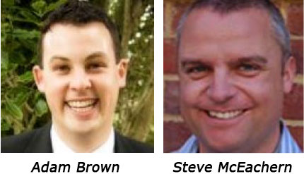 Adam Brown and Steve McEachern
