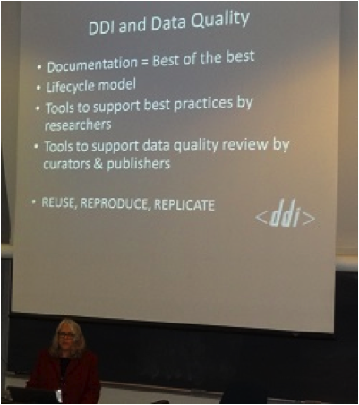 Ann Green discusses DDI and data quality at NADDI