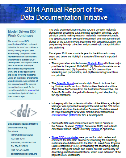 DDI 2014 Annual Report
