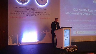 >Joachim Wackerow presents at Sixth Session of OIC Statistical Commission