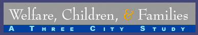 Welfare, Children & Families: A Three City Study