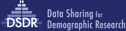 Data Sharing for Demographic Research Logo and Title