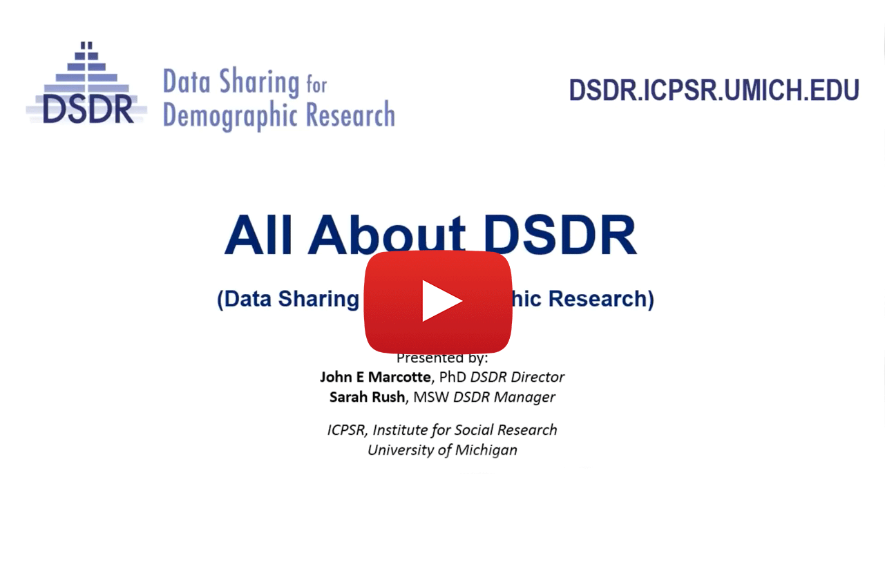 link to webinar of All About DSDR