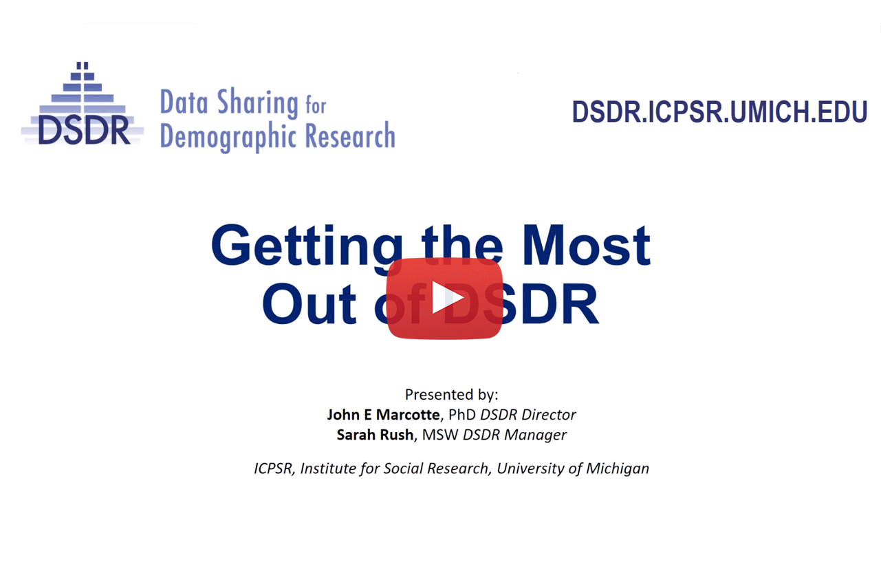 link to webinar of Getting the Most out of DSDR