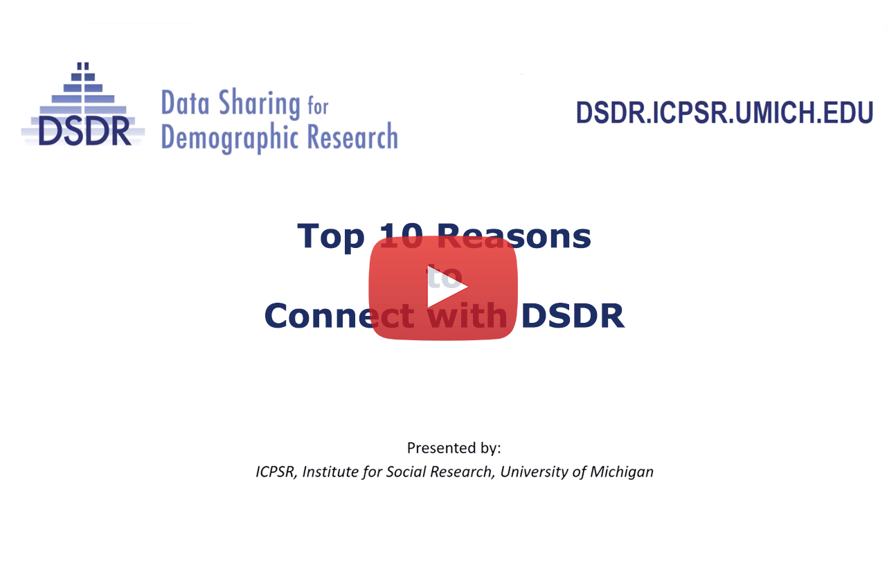 link to webinar of Top 10 reasons to connect with D S D R