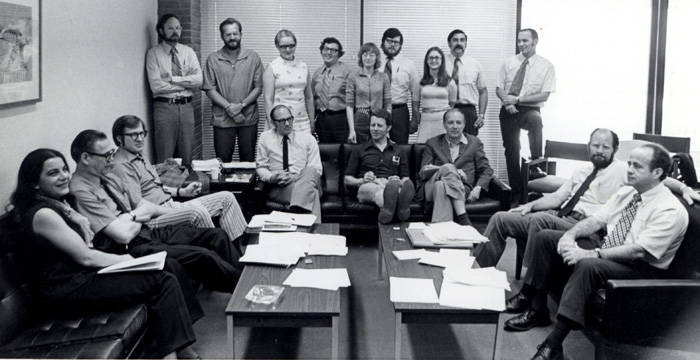 ICPR Council and senior staff in 1972