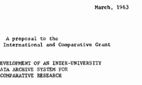 March 1963 grant application to Ford Foundation