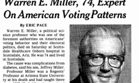 Warren Miller's obituary in the New York Times