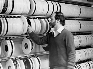 Hank Heitowit with magnetic tapes