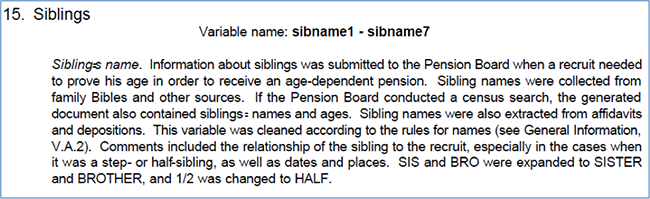 Variable name: Siblings
