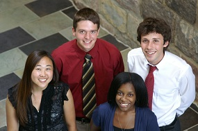 image of interns posing in Perry building atrium