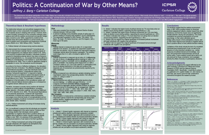 Jeffrey Berg's ICPSR internship poster