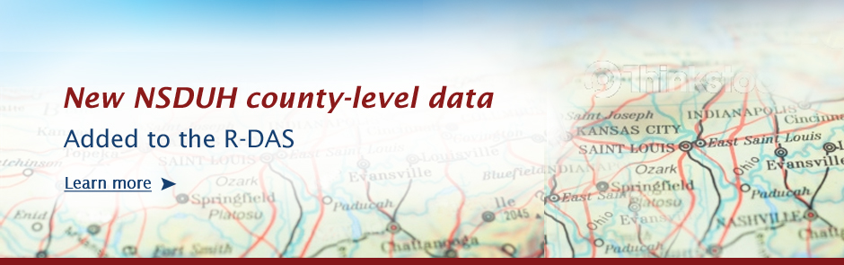 New NSDUH county-level data