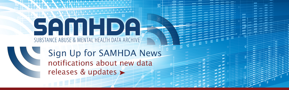 Welcome to SAMHDA, funded under a contract #283-10-0324 through SAMHSA. Sign up to SAMHDA News!