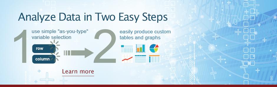 Analyze SAMHSA Data in Two Easy Steps